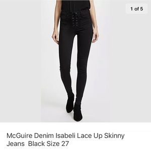 McGuire Denim Isabel lace up jean